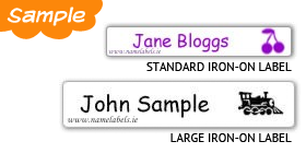 Iron-on Labels Sample